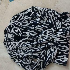 Printed summer weight blazer